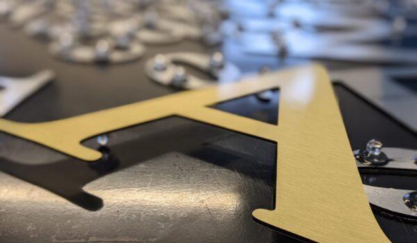 Flat cut letters trade