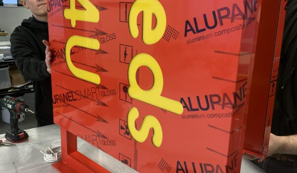 alupanel projecting sign