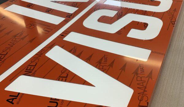 Alupanel sign tray