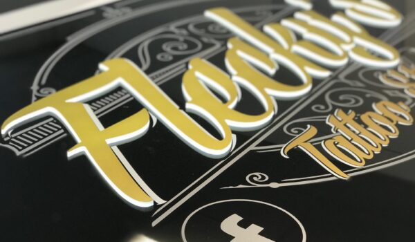 Push through gold letters