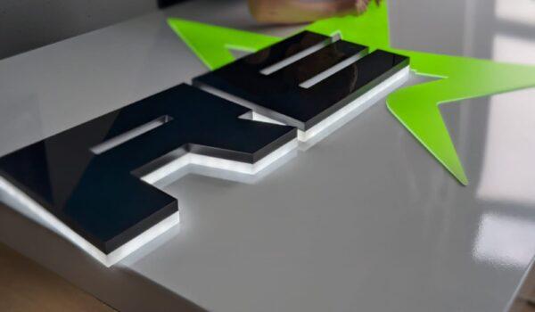block perspex letters